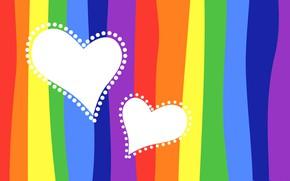 Picture strip, paint, heart