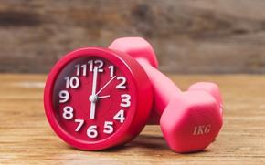 Picture Sport, Dumbbells, Alarm clock