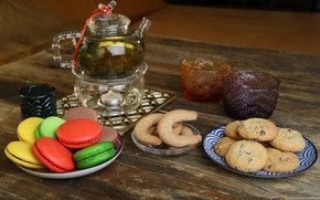 Picture tea, cookies, the tea party, delicious