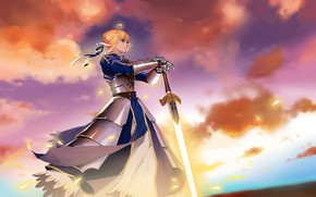 Wallpaper art, anime, the saber, character, Fate Grand Order