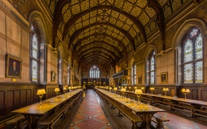 Picture Oxford, Dining Hall, Keble College, Diliff