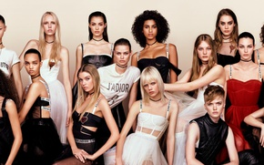 Wallpaper Japan, model, Vogue, Stella Maxwell, Birgit Kos, Camille Hurel, Ellen Pink, Jessie Bloemendaal, Vittoria Ceretti, ...