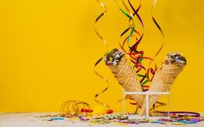 Picture summer, the sweetness, dessert, Ice cream