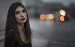 Picture look, face, background, model, lipstick, Daniela