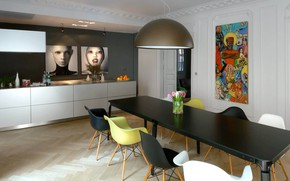 Picture room, interior, dining room, Apartment in France