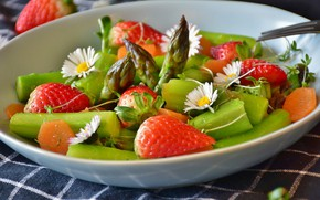 Wallpaper flowers, appetizer, Salad