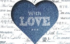 Picture love, the inscription, heart