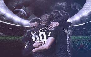 Wallpaper wallpaper, sport, logo, football, Paris Saint-Germain, players
