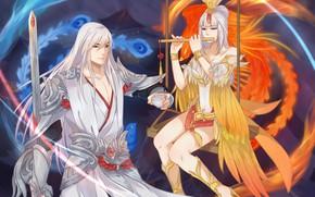 Picture the game, art, fantasy, the king of glory, Li Ba Wang Zhaojun