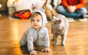Picture Cat, Child, Baby