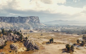 Picture the steppe, map, tanks, World of Tanks