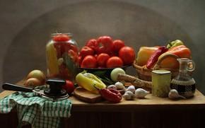 Picture autumn, kitchen, still life, vegetables, September, spices, zatoki
