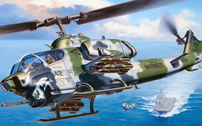 Picture USA, Super Cobra, Marine corps, United States Marine Corps, USMC, KMP, AH-1W, Bell Helicopter, US …