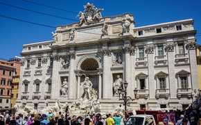 Picture italy, venice, max, tourist, point, spot, Trevi Fountain, xii, clemens xii pont max, clemens