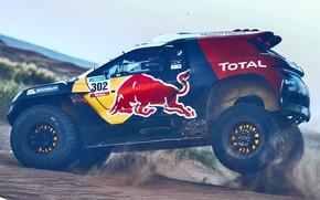 Picture Sand, 2008, Sport, Speed, Race, Peugeot, Lights, Red Bull, 302, Rally, Dakar, Dakar, Rally, Sport, …