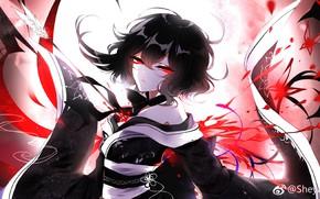 Picture girl, blood, arrow, Touhou, Touhou, Touhou, anime game