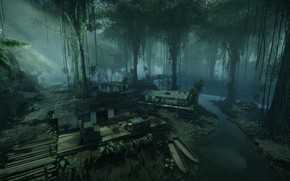 Picture bridge, jungle, object, Crysis 3 MP DLC, Crossing
