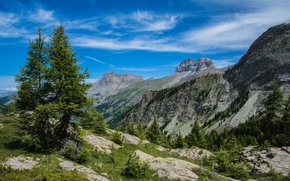 Picture mountains, nature, France, Alps, The Large Seolane