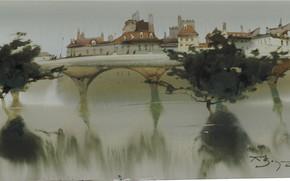 Picture bridge, panorama, arch, Arusha Vozmus, Smells Of Water.