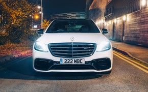 Picture Mercedes-Benz, front view, AMG, S 63, 4MATIC, 2017