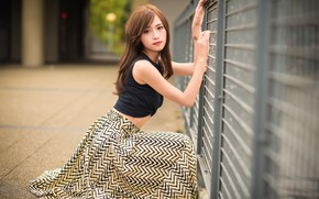 Picture pose, model, skirt, cutie