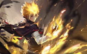 Picture anime, art, guys, Katekyo Hitman Reborn!, Giotto Primo