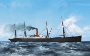 Picture wave, ship, armenian, Transatlantic Ships