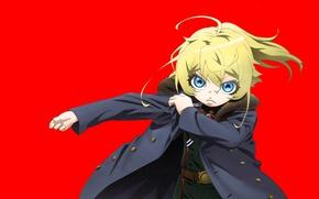 Picture girl, soldier, military, war, anime, chibi, blue eyes, blonde, asian, manga, oriental, asiatic, powerful, strong, …
