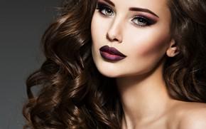Picture look, face, portrait, makeup, curls
