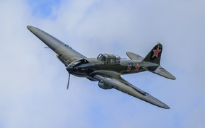 Wallpaper WWII, the sky, Il-2, attack, flight