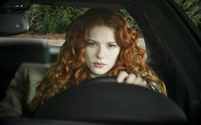 Picture vampire, red, Twilight, red eyes, curls, Twilight, Victoria, Rachelle Lefevre