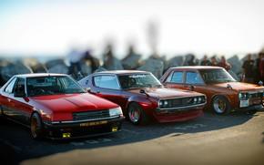 Picture Auto, Machine, Three, Nissan, Machine, Nissan, Lights, Car, 2000, Skyline, Nissan Skyline, The front, 2000GT, …