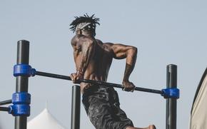 Picture muscle, bar, men, back, workout, shoulders