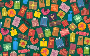 Wallpaper holiday, texture, gifts, colorful background