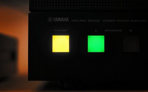 Picture macro, button, Yamaha, Power Amplifier, M-4