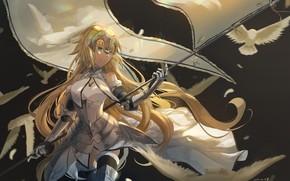 Picture girl, anime, art, Fate/Grand Order, Fate/Grand Campaign