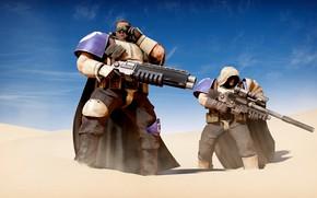 Picture weapons, desert, warriors, scouts desert, Desert Sneakers