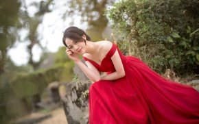Picture girl, smile, dress