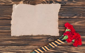 Picture flowers, paper, holiday, victory day, St. George ribbon, May 9, clove