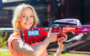 Wallpaper biathlon, Maren Hammerschmidt, blonde, Maren Hammerschmidt, German biathlete, biathlon