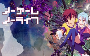 Picture anime, art, two, No Game No Life, No game no life