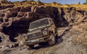 Picture Mercedes-Benz, SUV, brown, relief, 2018, G-Class