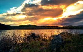 Picture lake, Ural, Chelyabinsk oblast, Sandy