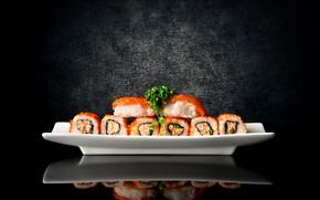 Picture algae, fish, rolls, filling