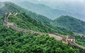 Picture greens, forest, the great wall of China