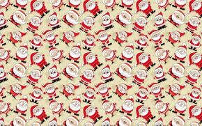 Picture mood, holiday, texture, art, New year, Santa, Santa Claus