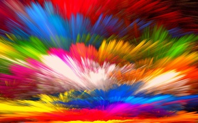 Wallpaper background, rainbow, colorful, splash, colors, bright, painting, abstract, background, paint