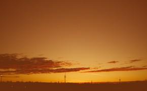 Picture dawn, horizon, day