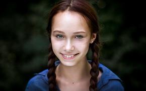 Picture smile, girl, braids, Julia