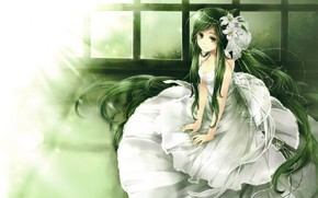Picture girl, anime, art, the bride